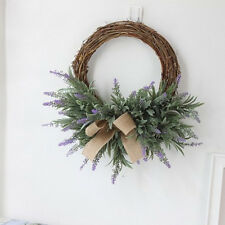 Handmade Lavender Flower Wreath Garland Home Office Wedding Venue Decor