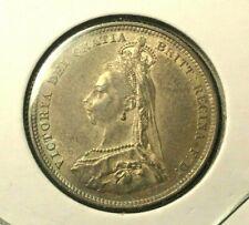 1887 🔥 Great Britain Half Shilling 🌞 XF Silver Coin ✨ KM 761  ✨ Queen Victoria