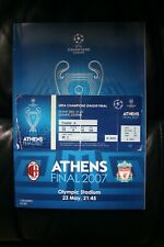 AC MILAN V Liverpool 2007 CHAMPIONS LEAGUE FINALE programma e ticket