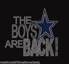 Dallas Cowboys the Boys Are Back Rhinestone Iron on Transfer       B0RW