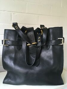 Mulberry Black Pebbled Leather Tote