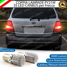 COPPIA LAMPADE PY21W CANBUS 35 LED KIA SORENTO I 1 FRECCE POSTERIORI NO AVARIA