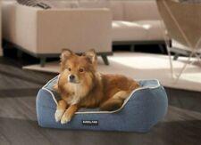 "Brand NEWDog Bed for small dogs, Kirkland Signature 21"" x 25"" Rectangular, Blue"