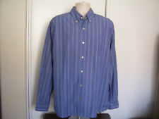 Converse One Star Blue Red Stripes Men's Long Sleeve Button Up Shirt Size XL