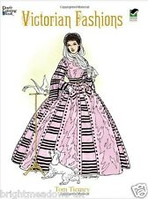 Victorian Fashions Adult Colouring Book Creative Art Therapy Gift Dresses Pretty