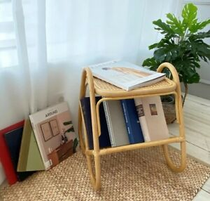 Side tables Simple style rattan storage small coffee table Shoe Organizer Shelf