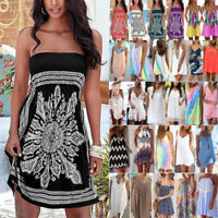 Womens Summer Casual Short Mini Dress Beach Bikini Cover Up Swimwear Sundress