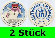 2 Stück Bierdeckel  Hofbräuhaus München - Ein Münchner im Himmel Nr. 22 Aloisius
