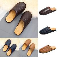 Herren Hausschuhe Sandalen Leder Pantoffeln Latschen Schlappen Pantoletten