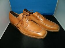 Mens Size 8 Brown Leather Oxfords Dress Square Toe Shoes Vero Cuoio