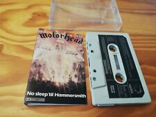 MOTORHEAD - No Sleep 'Til Hammersmith - 1981 UK 11-track Cassette - BRONZE