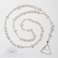Rosary Beads Rose Quartz With Triangle Blessed Energised John of God Brazil