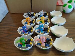 Hot Wheels - Mario Kart - Complete set of 8 Yoshi Mystery Eggs - NEW Colors