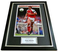TONY ADAMS Signed FRAMED Photo Mount Autograph Display ARSENAL Football & COA