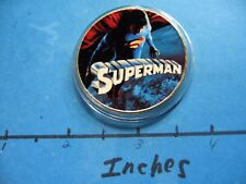 SUPERMAN ROUTH DC COMICS ENAMEL COLORED HOLLYWOOD NICKEL COPPER COIN RARE #M