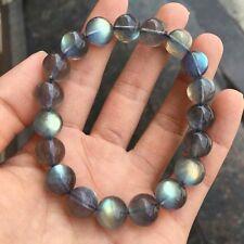 Natural Ice Labradorite Rainbow Light Gemstone Beads Bracelet 12mm AAAA