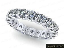 1.30Ct Round Diamond Shared U-Prong Eternity Wedding Ring 14k White Gold F VS2