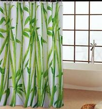 Bamboo Green Tree Shower Curtain Plant Tree Picture 180cm x 180cm Polyester with