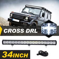 34inch 360W OSRAM LED LIGHT BAR SPOT FLOOD COMBO CROSS DRL OFFROAD TRUCK 4WD SUV