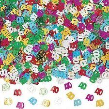 Number 40 Confetti, 40th Birthdays, Anniversaries, Party Supplies P37140/90