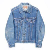 Vintage LEVI'S  Blue 90s Cotton Casual Denim Jacket Mens M