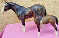 Breyer Traditional #1171 Grullo Paint Mare and #1170 Dun Paint foal