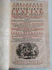1725 Thesaurus Antiquitatum et Historiarum Italiae Mari Ligustico Tomi I P Prior