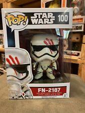Pop Star Wars FN 2187 Finn with Blood Smear 100 Funko Pop Vinyl EXPERT PACKAGING