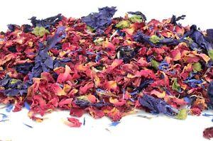 Wedding Confetti Petals Natural Biodegradable Confetti Dried Flowers, Passion 1L
