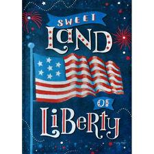 LAND OF LIBERTY USA AMERICAN JULY INDEPENDENCE MINI WINDOW GARDEN YARD FLAG NEW