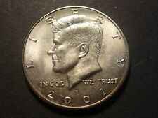 ERROR - 2001-P Kennedy Half Dollar With Heavily Cracked Convex Reverse
