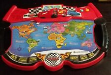 VTECH Disney Cars 2 Lightening McQueen WGP World Atlas Explorer Electric Game.
