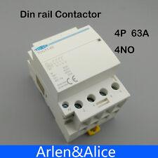 TOCT1 4P 63A 220V 400V~ 50/60HZ Din rail Household ac contactor 4NO