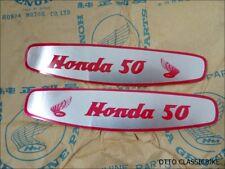 HONDA 50 CUB C100 C102 CA100 CA102 C50 GAS TANK DECALS  ALUMINUIM  A PAIR