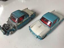 Corgi Triumph Herald Coupe Blue/White X Two One Near Mint, One For Repair