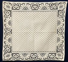 Two Lace Napkins Ivory Cotton Blend Gingham Diningroom Kitchen Table Accents