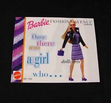 1999 Barbie Kelly Fashion Avenue Clothes Catalog Booklet Mattel 20 Pgs Reference