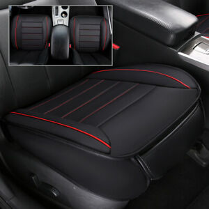 PU Leather Bamboo Charcoal Car Seat Cover Cushion Full Surround Breathable Bk T0