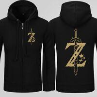 The Legend Of Zelda Hoodie Breath Of The Wild Zip Up Hooded Hoodie Sweatshirt