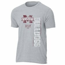 NCAA Mississippi State Bulldogs Men's Dark Knight Vintage Sheer Short Sleeve Tee