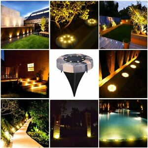 8LED Solar Power Ground Lights Floor Decking Patio Outdoor Garden Lawn Path Lamp