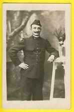 cpa Carte Photo vers 1920 MILITAIRE SOLDAT en Uniforme du 2ème Régiment