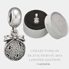 Authentic Pandora Silver 2014 Black Friday Christmas Wish Bead  USB792700