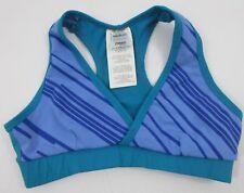 Zumba Sports Bra Top Deep V Blue Teal Size Medium