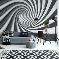 Mural wallpaper 144x100inch Feature photo wall Black and White swirl abstract