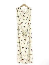Hobbs N.W.3 Womens Ivory Silk Print Maxi Dress Size 14