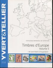 2015 French Yvert & Tellier Europe Postage Stamp Catalogue S-Y Volume 5