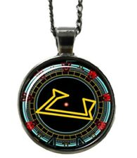 Stargate Engaged Computer Face Logo Glass Domed Pendant Necklace