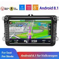 "8"" Autoradio Android GPS Navi BT 2 DIN Per VW GOLF 5 6 Passat Touran Tiguan Polo"