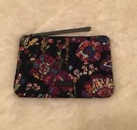 NWT Vera Bradley Escapade Wristlet Midnight Wildflowers Wallet Clutch Purse